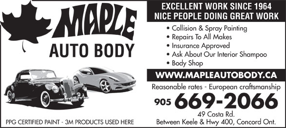 Ads Maple Auto Body