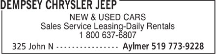 Ads Dempsey Chrysler Jeep