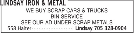 Ads Lindsay Iron &amp; Metal