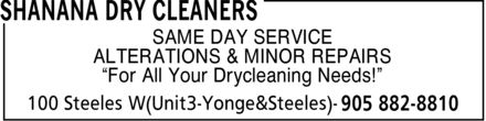 Ads Shanana Dry Cleaners