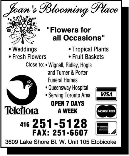 Ads Joan&#039;s Blooming Place