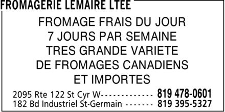 Ads Fromagerie Lemaire Lte