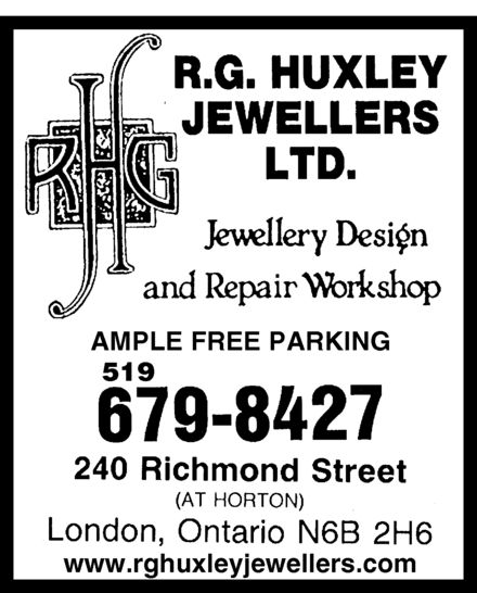 Ads Huxley R G Jewellers Ltd