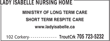Ads Lady Isabelle Nursing Home