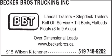 Ads BBT - Becker Bros Trucking