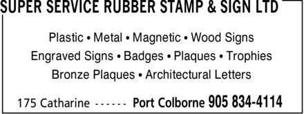 Ads Super Service Rubber Stamp & Sign Ltd