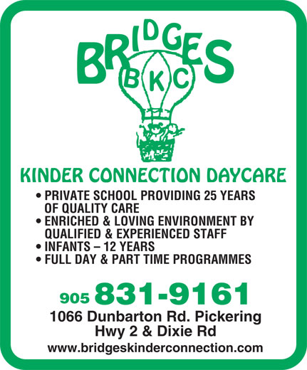Ads Bridges Kinder Connection Day Care