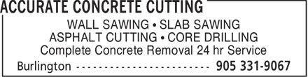 Ads Accurate Concrete Cutting