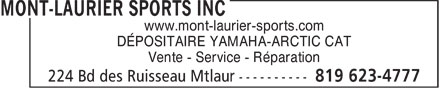 Ads Mont-Laurier Sports Inc