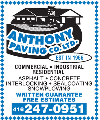 Ads Anthony Paving Co Ltd