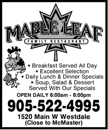 Ads Maple Leaf Family Restaurant