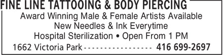 Ads Fine Line Tattooing &amp; Body Piercing