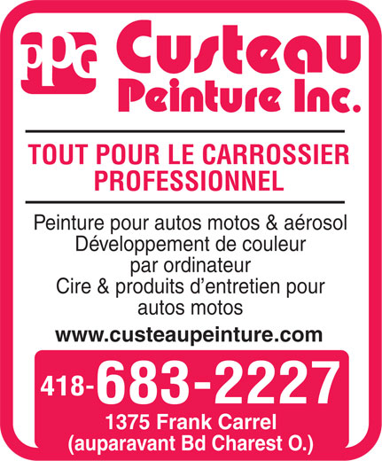 Ads Custeau Peinture Inc