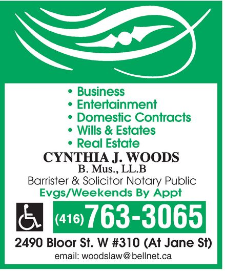 Ads Cynthia J Woods