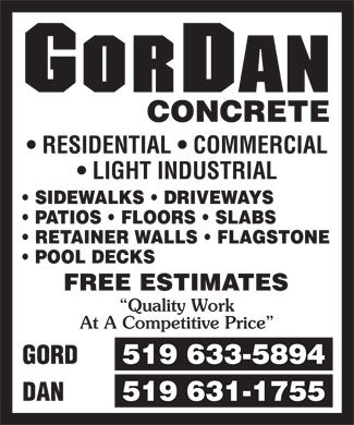Ads GorDan Concrete