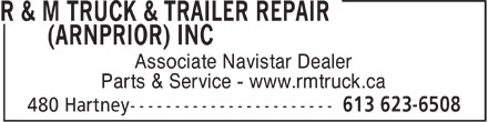 Ads R&M Truck & Trailer Repair (Arnprior) Inc