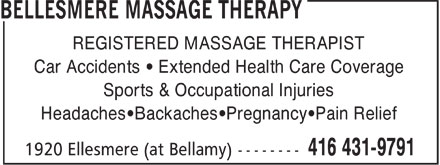 Ads Bellesmere Massage Therapy