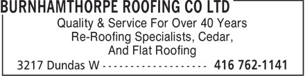 Ads Burnhamthorpe Roofing Co Ltd