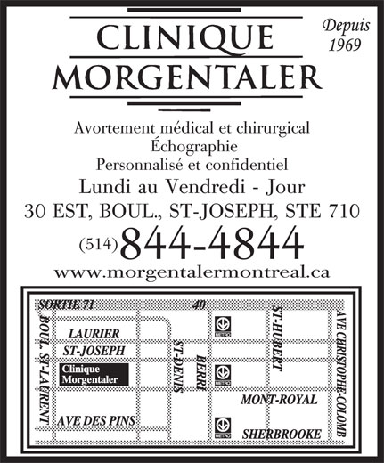 Ads Clinique Morgentaler