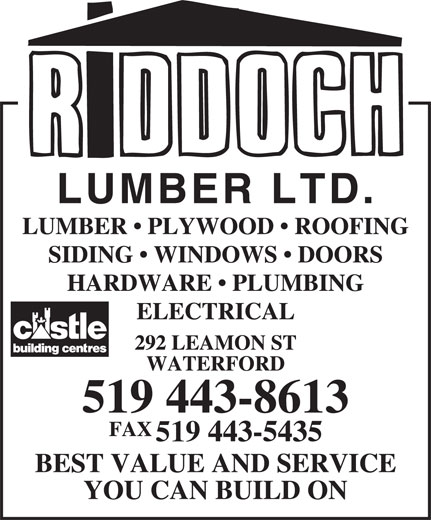 Ads Riddoch Lumber Ltd