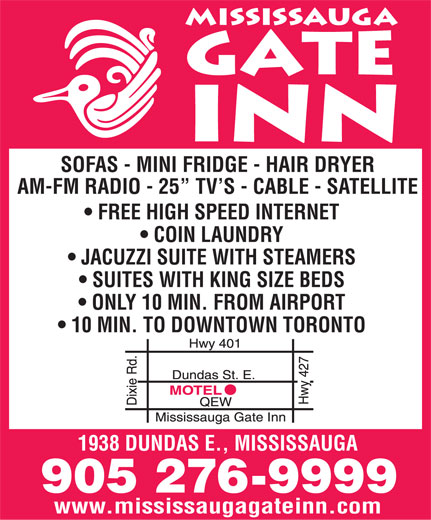 Ads Mississauga Gate Inn