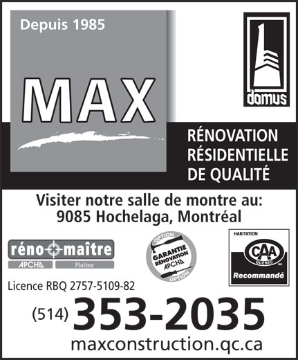 Ads Constructions Max Larocque Inc