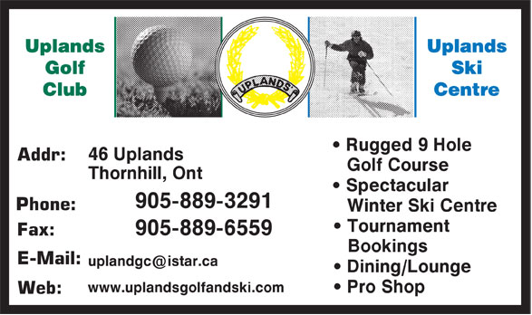Ads Uplands Golf & Ski Club
