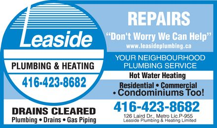 Ads Leaside Plumbing &amp; Heating Limited