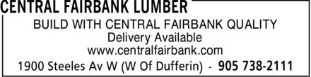 Ads Central Fairbank Lumber