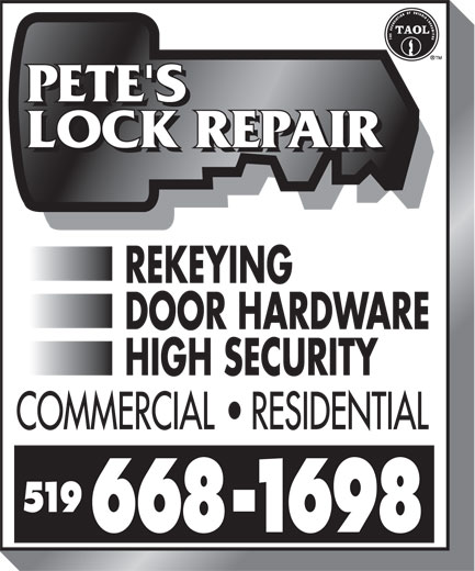 Ads Pete's Lock Repair