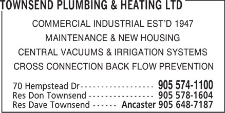 Ads Townsend Plumbing & Heating Ltd