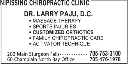 Ads Nipissing Chiropractic Clinic