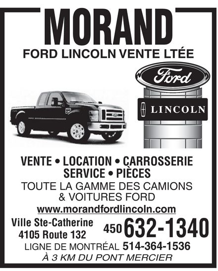 Ads Morand Ford Lincoln Vente Ltée