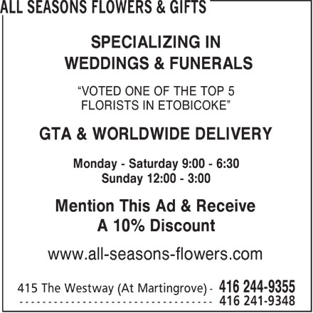 Ads All Seasons Flowers &amp; Gifts
