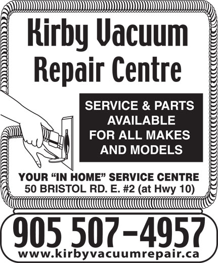 Ads Kirby Vacuum Repair Centre - Free Pick-Up With Service