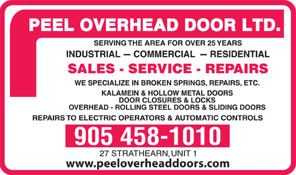 Ads Peel Overhead Door Ltd