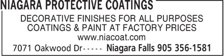 Ads Niagara Protective Coatings