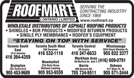 Ads Roofmart (Ontario) Ltd