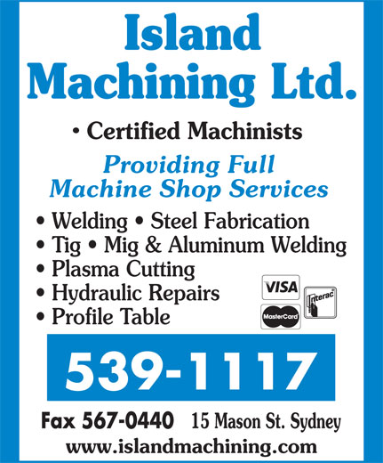 Ads Island Machining Ltd
