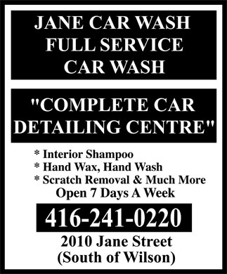 Ads Jane Car Wash