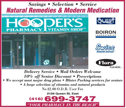 Ads Hooper's Pharmacy