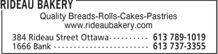 Ads Rideau Bakery