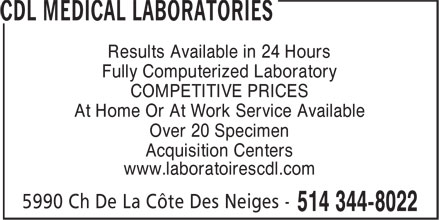 Ads Laboratoires CDL inc