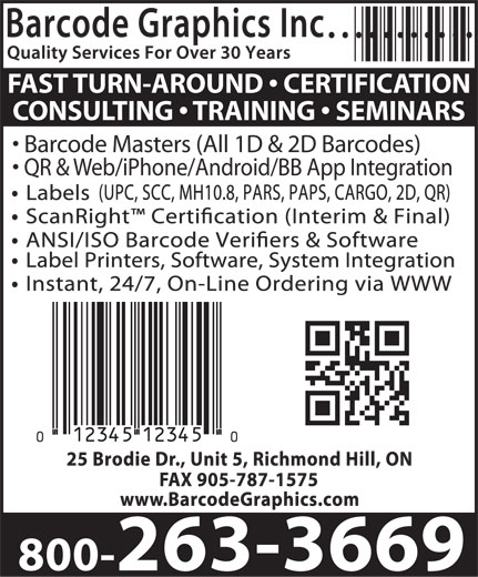 Ads Barcode Graphics Inc