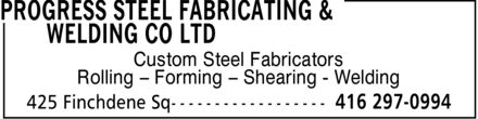 Ads Progress Steel Fabricating & Welding Co Ltd