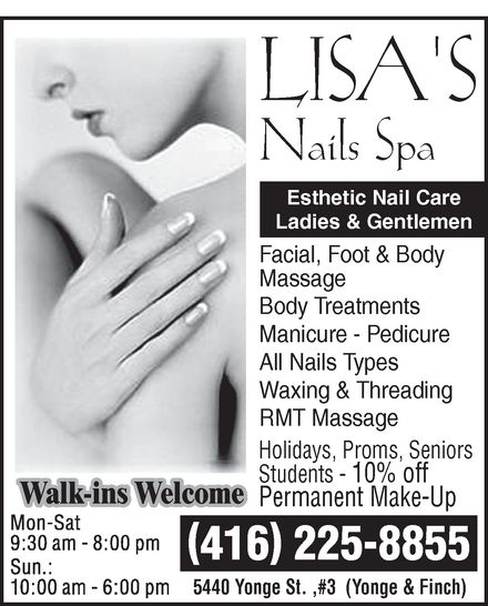 Ads Lisa's Nails Spa