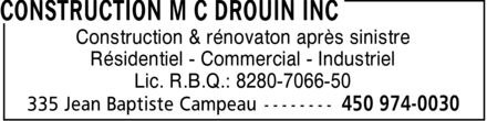 Ads Construction M C Drouin Inc