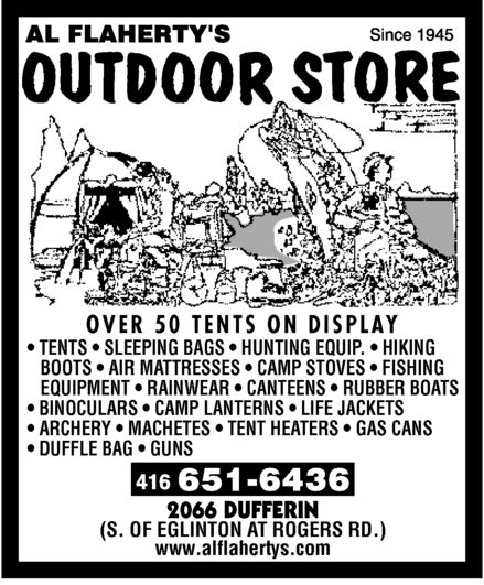 Ads Al Flaherty&#039;s Outdoor Store