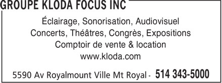 Ads Groupe Kloda Focus Inc