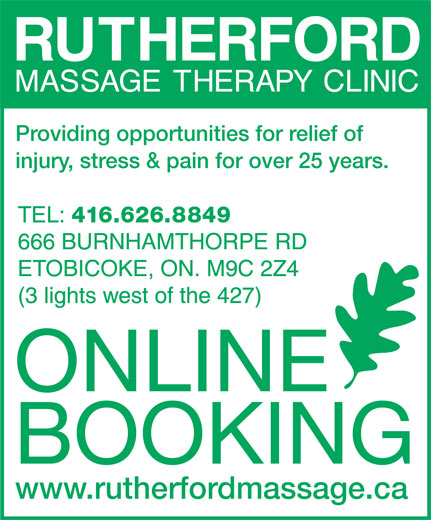 Ads Rutherford Massage Therapy Clinic